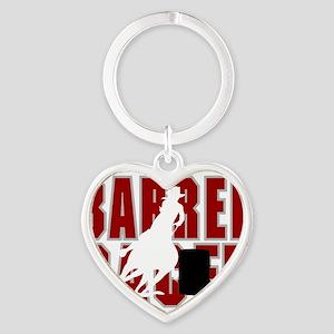 BARREL RACER [maroon] Heart Keychain